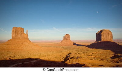 (1134) Monument Valley Utah Sunset Moonrise Timelapse -...