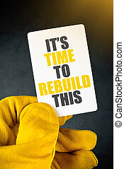 Its Time to Rebuild This on Business Card - Its Time to...