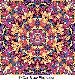bright kaleidoscope pattern. vector illustration - eps 8