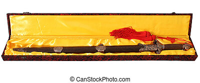 Chinese Martial art double sword - Chinese martial art...