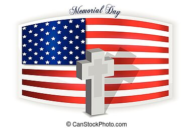 Memorial Day background, last monda - Background of american...