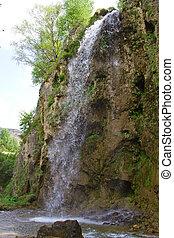 piccolo, montagne, cascata