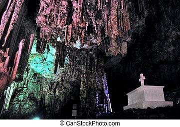 給人深刻印象, Melidoni, 山洞, crete, 希臘