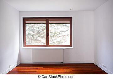 Empty unfurnished room in new detached house