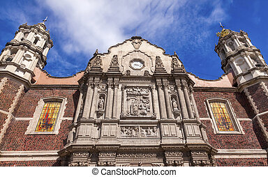 Old Basilica Shrine of Guadalupe Christmas Day Mexico City...