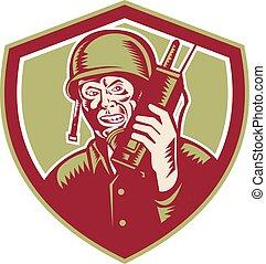 World War Two Soldier American Talk Radio Crest -...