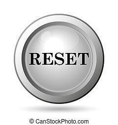 Reset icon Internet button on white background