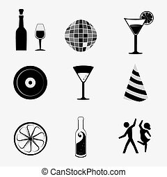 Cocktail design. - Cocktail design over white background,...