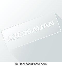 Azerbaijan unique button