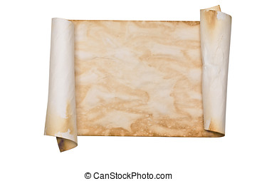 Ancient parchment scroll - Ancient looking parchment made to...
