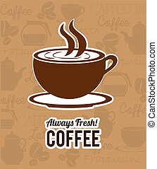 Coffee design - Coffee design over beige background, vector...
