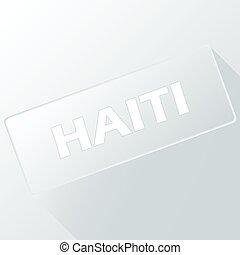 Haiti unique button