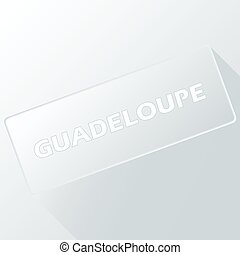 Guadeloupe unique button for any design Vector illustration