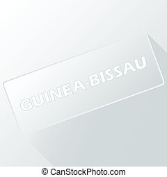 Guinea-Bissau unique button for any design. Vector...