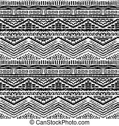 Hand drawn painted seamless pattern. Vector illustration for...