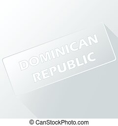 Dominican Republic unique button for any design Vector...