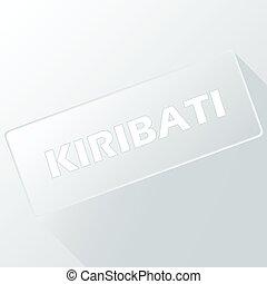 Kiribati unique button for any design Vector illustration