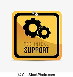 Technical support design - Technical design over white...
