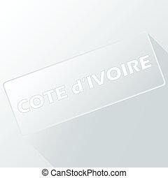 Cote d Ivoire unique button