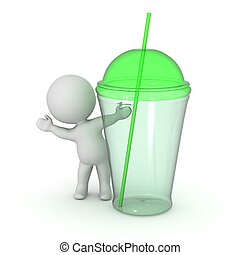 3D Character Waving from Soda Drink