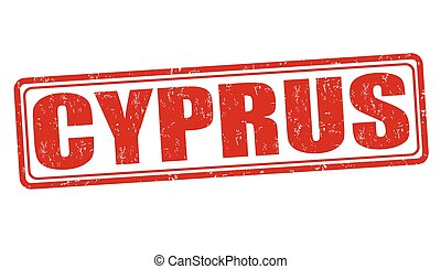 Cyprus stamp - Cyprus grunge rubber stamp on white...