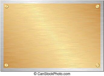 Drukowanie - golden and silver plaque