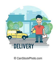Concept on the subject of delivery.