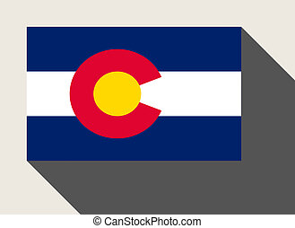 American State of Colorado flag