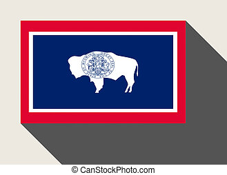 American State of Wyoming flag