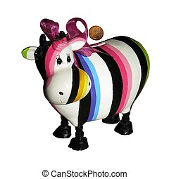 betsy the savings bank cow - cute colorful savings bank with...