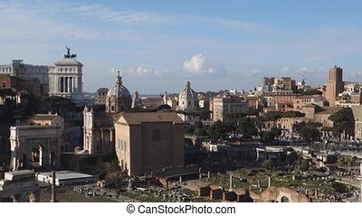Capitoline hill and the Roman forum