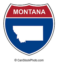 Montana interstate highway shield