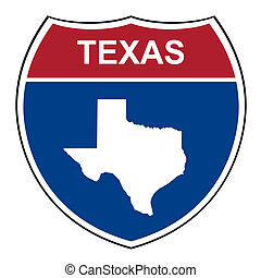 Texas interstate highway shield - Texas American interstate...