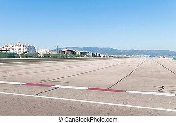 Airport runway in Gibraltar - Dangerous airport runway in...