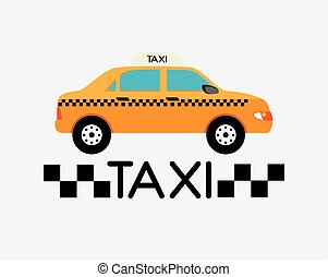 Taxi design - Taxi service design over white background,...