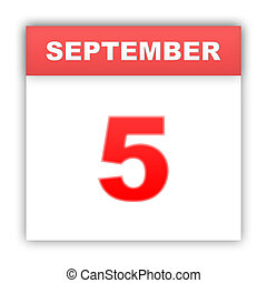 September 5 Day on the calendar 3d