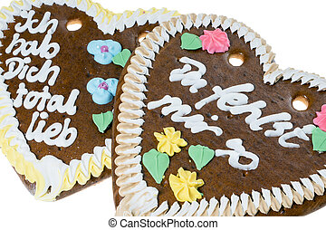 Love - two gingerbread hearts