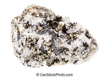 Pyrite in quartz