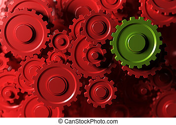 Gears Background - gear or cogwheel working together,...