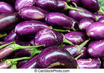 Brinjal - lots of fresh Brinjal at fruit market