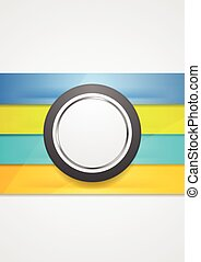 Corporate futuristic abstract background. Stripes and circle