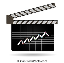 Business strategy, flow of succes, illustration with film...