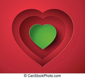 paper heart - Valentine's day abstract background with cut...