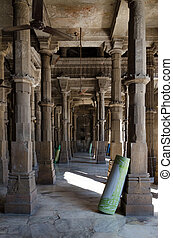 Interior of Jama mosque in Ahmedabad, Gujarat, India