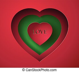 paper heart. - Valentine's day abstract background with cut...