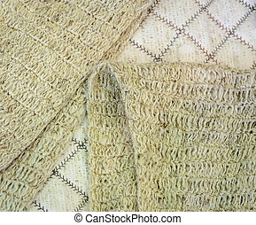 Knitted scarf of bamboo yarn background