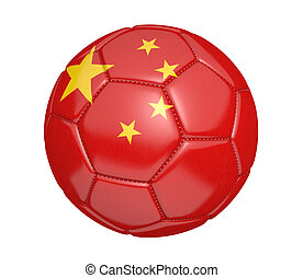 Soccer ball with flag of China - Soccer ball, or football,...