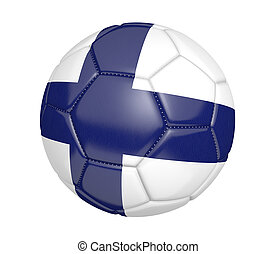 Soccer ball with flag of Finland - Soccer ball, or football,...