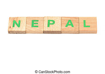 nepal written with scrabble letters
