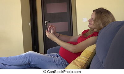 woman shoot selfie phone